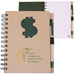 EcoShapes™ Recycled Die Cut Notebook: $