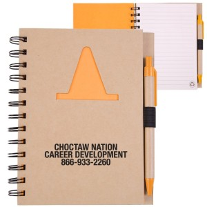 EcoShapes™ Recycled Die Cut Notebook: Construction Cone.