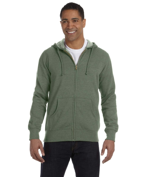 55% certified organic cotton, 45% recycled polyester hood is lined with organic cotton jersey clean-finished neck seam with woven tape pouch pocket double-needle coverstitched seams YKK Zipper 2x1 cotton/spandex rib