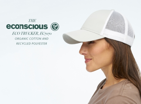 4ae2515d New ECO TRUCKER style caps from Econscious. We can embroider locally with  your company logo.